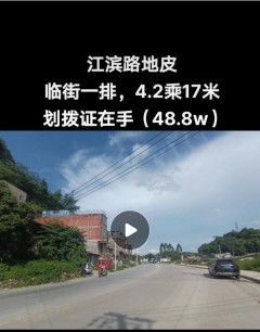 (平果市)江滨路临街4.2乘17米地皮