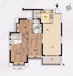 (平果市)平果恒大城毛坯3室2厅2卫30万113m²出售